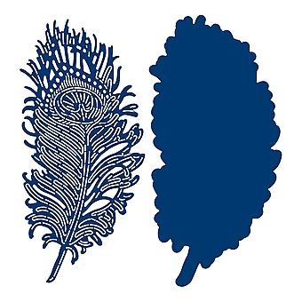 Tattered Lace Peacock Feather Die Set