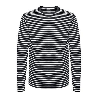 Claude Navy & White Striped Lightweight Sweater