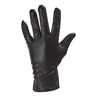 Quivano Womens Leather Gloves - 4 Button Design - Classic Style With Soft Fabric Lining # 323-200