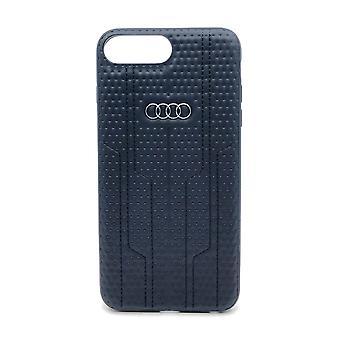 Audi Backcover Hoesje iPhone 8 Plus / 7 Plus - Zwart