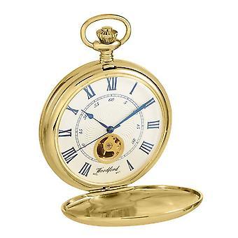 Woodford Hunter Twin lock Albert Pocket Watch - guld