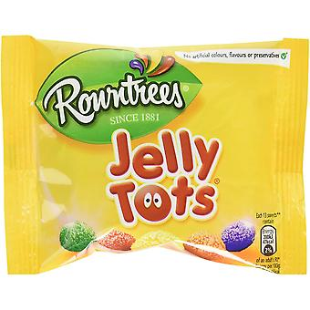 Rowntrees Jelly Tots Sweets Sharing Pouch, 42g x Pack of 36