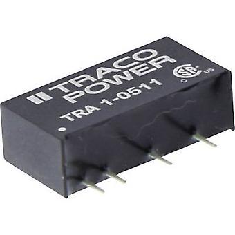 TracoPower TRA 1-0512 Convertidor CC/CC (impresión) 5 V DC 12 V DC 84 mA 1 W No. de salidas: 1 x