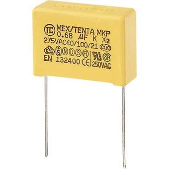 COMPONENTES TRU MKP-X2 1 pc(s) MKP-X2 capacitor radial chumbo 0,68 μF 275 V AC 10 % 22,5 mm (L x W x H) 26,5 x 10 x 19 mm