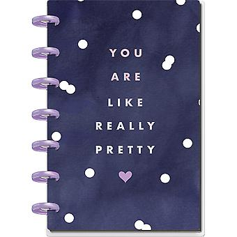 Happy Planner Mini Notebook W/60 Sheets-Glam Girl- Dot Lined Paper