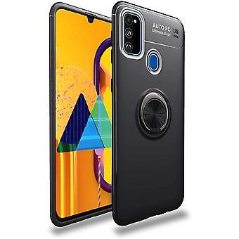 Mobiles Gehäuse mit Ringhalter Samsung Galaxy M30S - schwarz