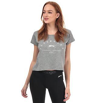 Women's Slazenger Ilena Cropped T-shirt in Grijs