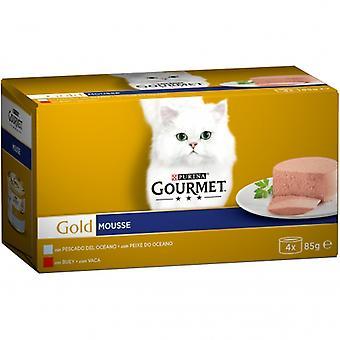 Gourmet Gold Mousse Multipack: Pescado del Océano, Buey (Cats , Cat Food , Wet Food)