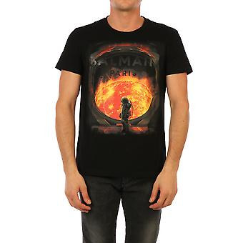 Balmain 1601i371aaa Men's Black Cotton T-shirt