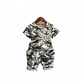 Boys Short Sleeve Camouflage T-Shirt And Shorts, Infant