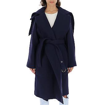 Chloé Chc19ama0607248b Women's Blue Wool Coat