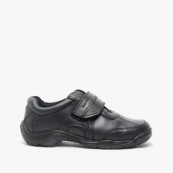 Hush Puppies Arlo Senior Boys Leather School Shoes Black
