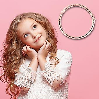 """TJC Allegro Bangle for Kids Rose Gold Plated Sterling Silver Size 6.2"""""""