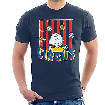 Peanuts Circus Juggling Charlie Brown Men's T-Shirt