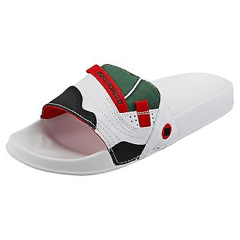 DC Shoes Williams Mens Slide Sandals in White Red