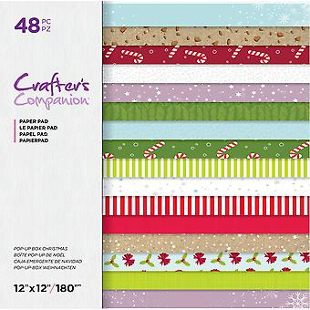Crafter's Companion Pop-Up Box Christmas 12x12 Inch Paper Pad