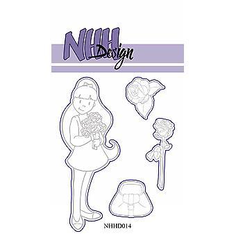 NHH Design Girl with Roses Dies