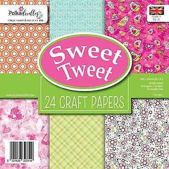 Polkadoodles Sweet Tweet 6x6 Inch Paper Pack