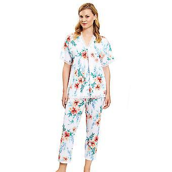 Rösch 1203106-10123 Femmes-apos;s New Romance White Hibiskus Floral Pyjama Set