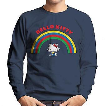 Hello Kitty Under The Rainbow Miehet&s Collegepaita