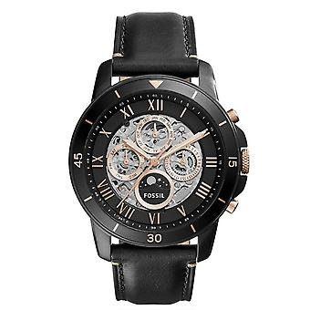 Fossil ME3138  Grant Sport Black Leather Automatic Fashion 44mm Men's Watch