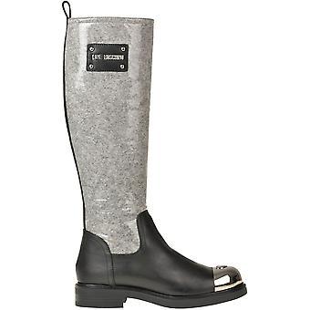Liefde Moschino Ezgl007028 Women's Black Rubber Boots