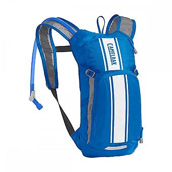 CamelBak Camelbak Kids' Mini Mule Hydration Pack 2020: Lapis Blue/white Stripe 3 Litres