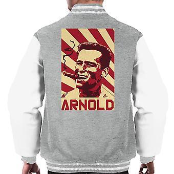 Arnold Schwarzenegger retro propaganda plakat menn ' s Varsity Jacket