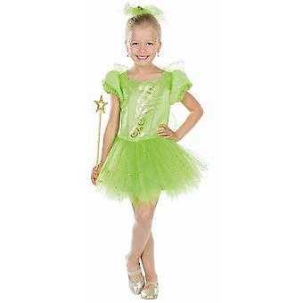 Fairy Princess Dzieci Fairy Dress z Green Wings Kostium Księżniczka Forest Fairy