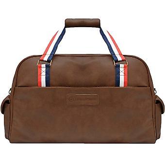Lambretta Mens Weekend Casual Zipped Adjustable Strap Travel Holdall Bag - Tan