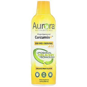 Aurora Nutrascience, Mega-Liposomal Curcumin+, Organic Fruit Flavor, 600 mg, 16