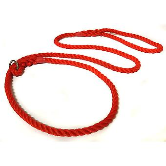 Kjk Ropeworks All-in-one Slip Lead (12mm x 120cm ) - Red