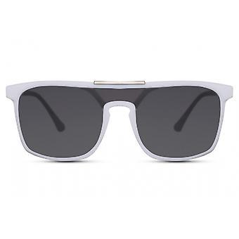 النظارات الشمسية السيدات مؤطرة تماما كات. 3 أسود / أبيض / دخان