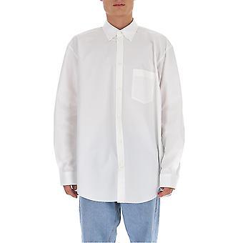 Balenciaga 642291tyb189000 Men'camisa de algodão branco