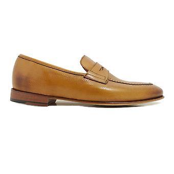 Barker Ledley Cedar Burnished Calf Leather Mens Loafers