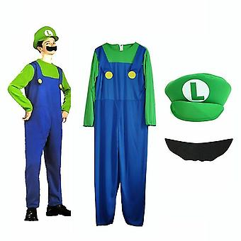 Super Mario Bros Boys Cosplay Fancy Dress Outfit Costume