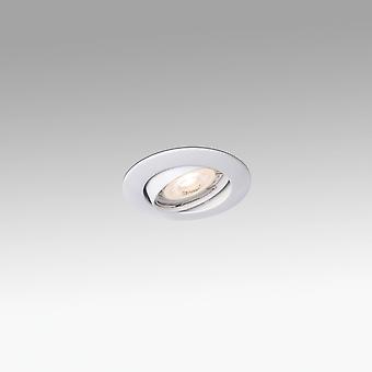 1 Light Round Tiltable Recessed Spotlight White