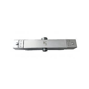 Mezclador termostático cuadrado para columna de ducha doble adjunto