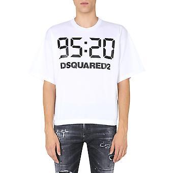 Dsquared2 S78gd0047s23009100 Män's Vit Bomull T-shirt