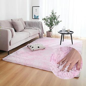 Dyeing Plush Soft Carpets For Bedroom Living Room - Anti Slip Water Absorption Floor Mats