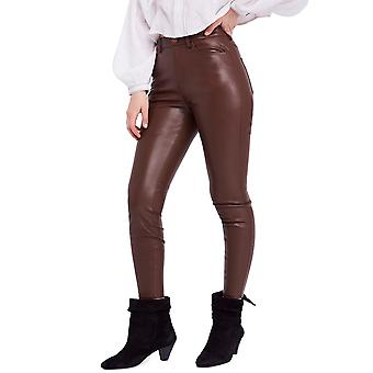 Free People   Faux Leather High Rise Pants