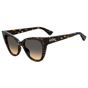Moschino MOS056/S 086/GA Dark Havana/Brown Ochre Sunglasses