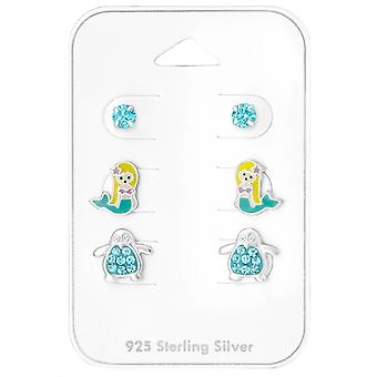 Sea - 925 Sterling Silver Sets - W28475x