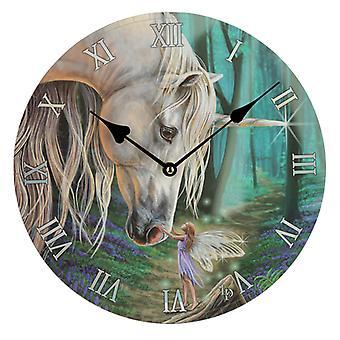 Dekorativa Fairy Viskar Lisa Parker Unicorn väggklocka X 1 Pack