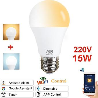 E27 E14 15w Wifi Smart Dimmable Rgb  Light Bulb - Magic Lamp   Compatible Amazon Alexa Google Home Cloud