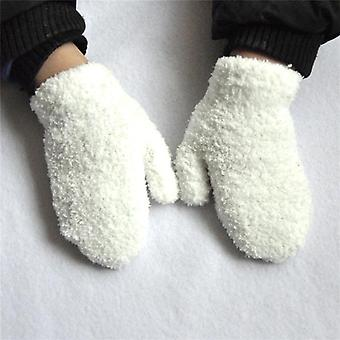 Warmom Plush Thick Warm Baby Gloves- Winter Plus Velvet Mittens Children Kid Coral Fleece Full Finger Gloves For 1-4y
