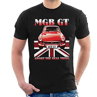 MG GT Sport The Real Thing British Motor Heritage Men's T-Shirt