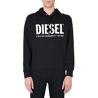 Diesel 00saqj0bawt900 Men's Musta Puuvilla Collegepaita
