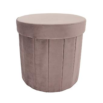 Country Club Foldable Storage Ottoman, Pink