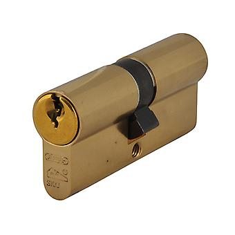 ABUS E60NP Euro Double Cylinder Polished Brass 40mm / 50mm Box ABUE60B4050